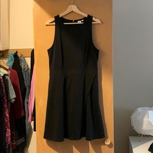 Black fitted dress from GAP.